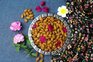 Almond with flowers